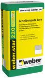 weber.star 220 Scheibenputz Jura Kratzputz Korn 1,5 mm