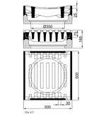 Längsaufsatz 500x500 SW30, m.E. Kl.D, RF