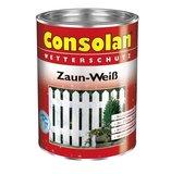 Consolan Zaun Weiß 2,5 Liter Weiß