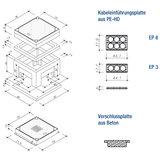 Betonwerk Wernau Abzweigkasten Typ 1 Bodenplatte